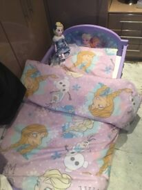 Frozen toddler bed with brand new mattress