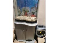 120 LITRE FISH TANK WITH CUPBOARD STAND & LOTS OF ACCESSORIES