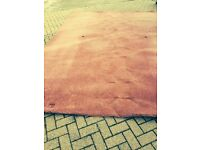thick wine carpet 3 metres by 4 metres
