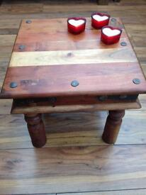Small Sheesham side/coffee table