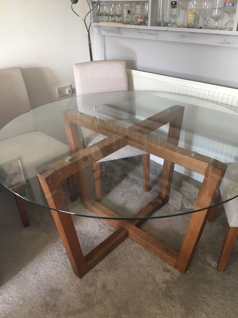Next Glass Top Dining Table 4 Chairs In Patchway Bristol Gumtree