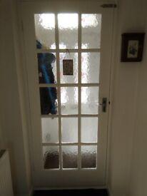 Interior Doors with glass panels.