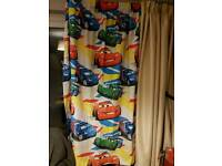 Disney cars long curtain, blanket, single duvet