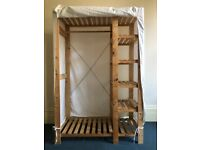 ** Good Condition Canvas Wardrobe **