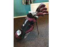 Full set of Golf clubs with stand bag