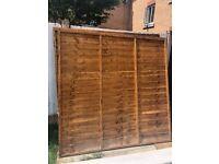 3 x fence panels 1.83m/6ft