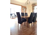 Oak Dining Table & Chairs