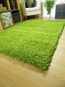SMALL X LARGE SIZE THICK PLAIN SOFT SHAGGY RUG NON SHED 5cm PILE MODERN