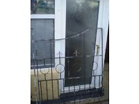 wrought iron end fence panel