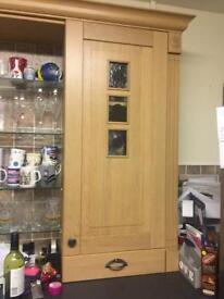 Kitchen cabinets, hob, sink and dishwasher