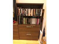 Bookcase with Filing Cabinet
