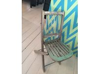 SILVER METAL FOLDING CHAIR - NEVER BEEN USED - TAKING OFFERS