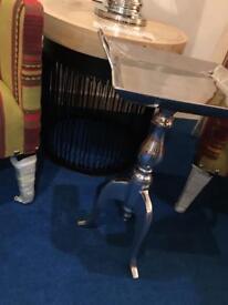 Designer Aluminium side tray table rrp £249