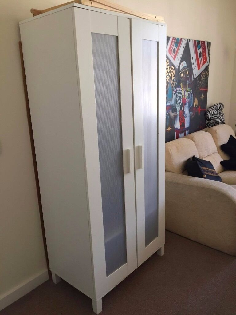 ANEBODA Ikea Wardrobe Whitein Brighton, East SussexGumtree - Ikea Wardrobe Dimensions 81x180cm Currently a bit wobbly because we didnt fix the back properly. Can be fixed with nails. Otherwise, ideal to store items. Price negotiable