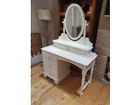 Solid white pine dressing table