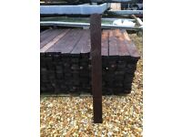3ft Picket Fence Posts - Planed, Smooth, Round Top, Treated Palings x 300 brand new