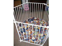 Baby Dan Metal Playpen/ Guard/ Room Divider with play mat. VGC. Comes with instruction.