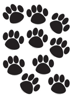 TCR 4277 Black Paw Print Cut Outs Bulletin Board Decorations Teaching Supplies  (Black Paw Print)