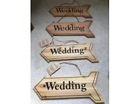 Wooden wedding signs - rustic decorations