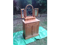 Dressing Table / Triple mirror / Cupboard / Chest of Drawer / Pine wood... FREE LOCAL DELIVERY