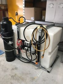 Car valeting,detailing equipment water filter and storage