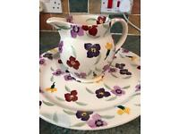 Emma Bridgewater Wallflower cake plate and 1.5 jug
