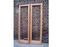 FREE DELIVERY X2 Wooden Unglazed Doors