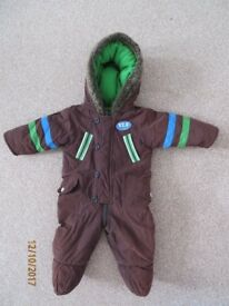 St George By Duffer baby boy pramsuit snowsuit thick 3-6 months