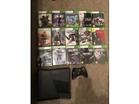 Xbox 360 slim with 500GB hard drive and 15 games
