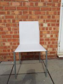 White PVC chair