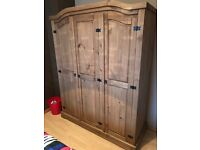 Lovely 3 Door Wooden Wardrobe