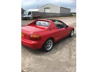 crx delsol sir convertible e/m e/w air con cd/radio e/arial