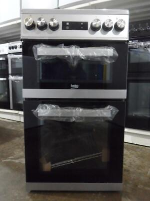 Beko KDV555AS Silver Electric Cooker Double Oven Fan Assisted 50cm KDV555A PEC