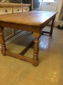 Beautiful old handmade farmhouse Dining Table.