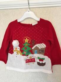 Unisex Christmas jumper from next 6-9 months