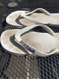 Men's armarni flip flops