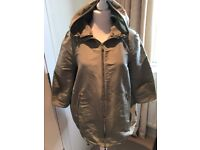Moncler, lightweight rain jacket in beige (neutral colour) size small with tags