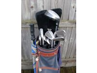 Mens Golf Club Set Of Right Hand Clubs, Bag,Trolley & Accessories