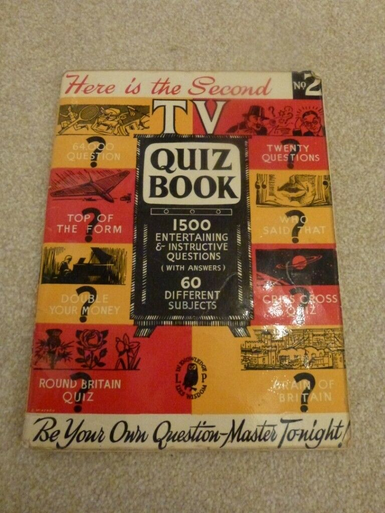Original Collectible Quiz Book from 1959  'Here is the second TV Quiz Book'  | in Shipston-on-Stour, Warwickshire | Gumtree