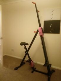 2 In 1 Vertical Climber Climbing Stepper Cardio Exercise Bike Home Gym Machine