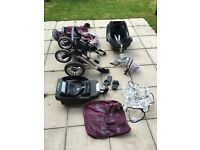 Oyster max (2) pushchair plus Maxi cosi car seat and car base