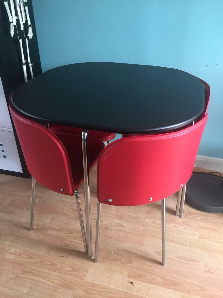 Table & Chairs stowaway concealed compact modern delivery