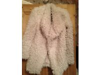 New with tags size 8 Atmosphere cream fluffy faux fur jacket (sold out in shops)