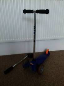 Mini Micro scooter with a tow bar