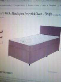 Divan single bed. New from argos