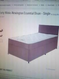 Divan single bed. New from argos