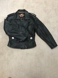 Genuine Harley Davidson Biker Jacket - Ladies size 14