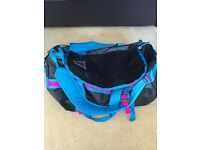 Black with Blue straps XL NorthFace Basecamp Duffell with Rucksack Straps ASNEW