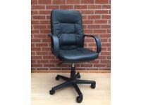 Black faux-leather Office Chair