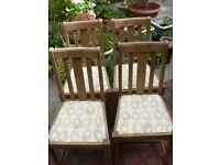 Set of 4 light oak Dining Chairs -FREE!!!